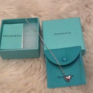Tiffany etoile silver heart necklace